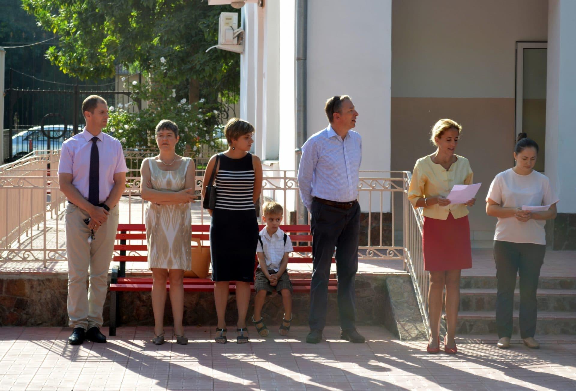 Katia Turnier, directrice de l'école française de Tachkent