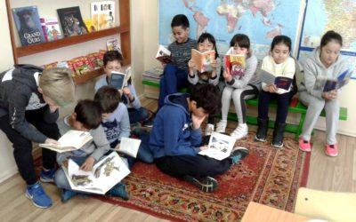 Rallye lecture dans la classe de CM 1