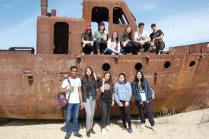 Voyage scolaire des lycéens du 4 au 7 avril 2018 : Nukus-Khiva-Moynak