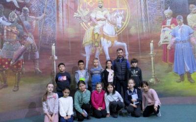 Visite  au musée de l'histoire de l'Ouzbékistan.