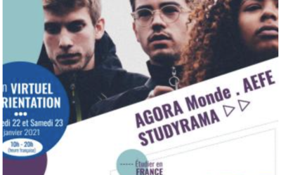 Premier Salon virtuel de l'Orientation AGORA Monde AEFE / Studyrama